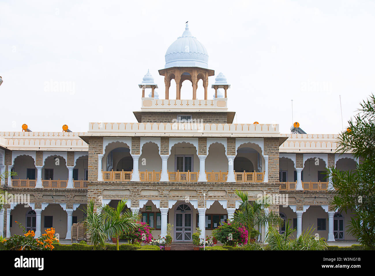 AJMER, RAJASTHAN, INDIA - JAN 21, 2019; Mayo College Building, Heritage architecture Property In Ajmer - Image - Stock Image