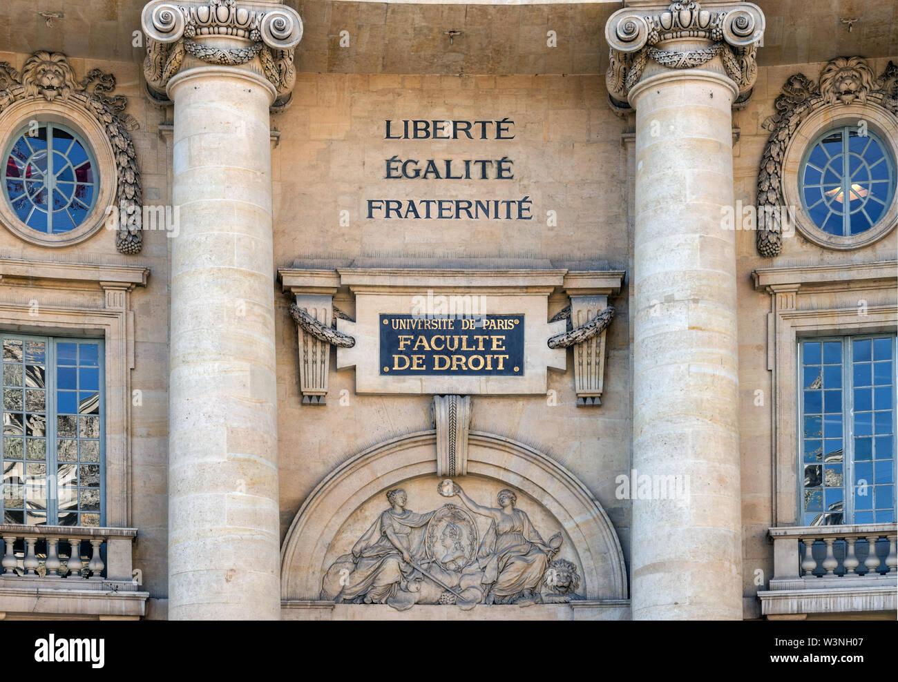 Law Faculty building of Sorbonne, University of Paris - Stock Image