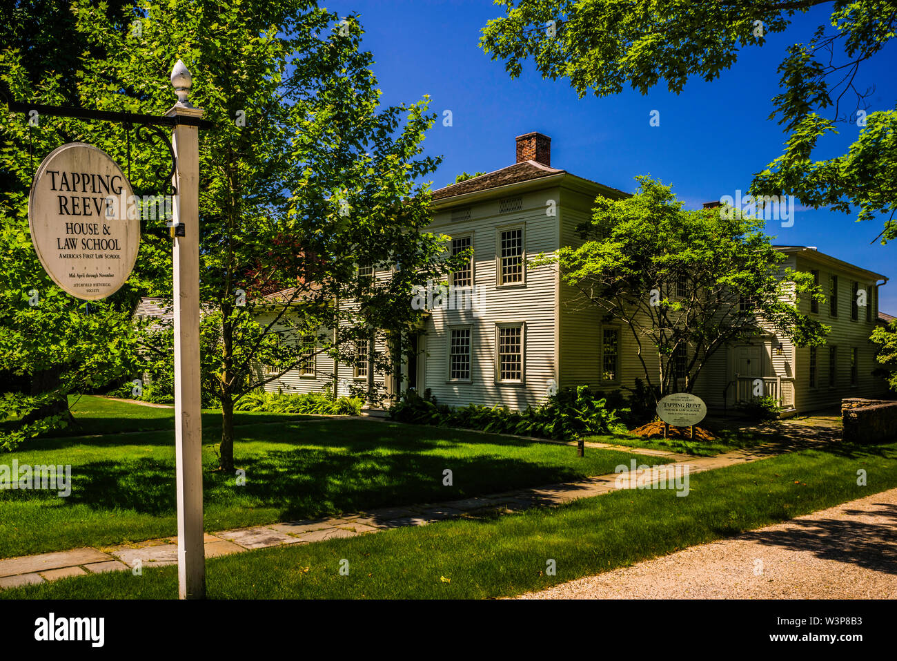 Litchfield Law School Litchfield Historic District _ Litchfield, Connecticut, USA - Stock Image