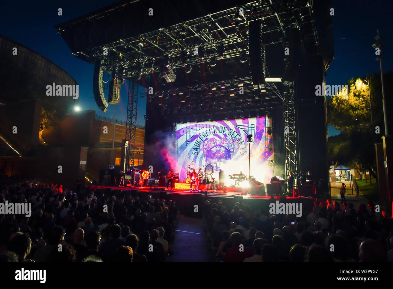 © Stefano D'Offizi - Nick Mason's Saucerful of Secrets @Rock in Roma Summer Fest // Auditorium parco della Musica - 2019 - www.rockerilla.com Stock Photo