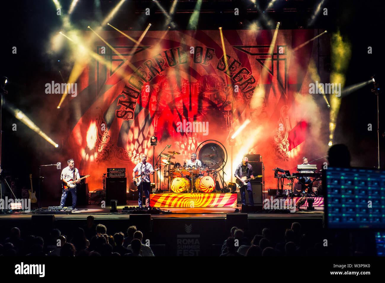© Stefano D'Offizi - Nick Mason's Saucerful of Secrets @Rock in Roma Summer Fest // Auditorium parco della Musica - 2019 - www.rockerilla.com - Stock Image