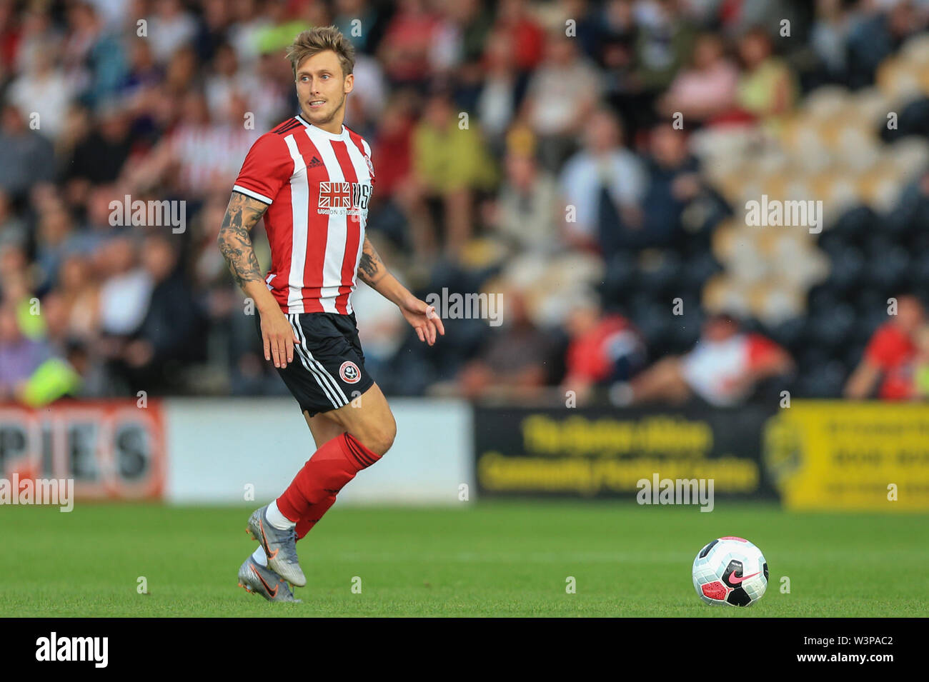 16th July 2019, Pirelli Stadium, Burton upon Trent, England; Pre-Season friendly, Burton Albion vs Sheffield United : Luke Freeman of Sheffield United in action during the game Credit: Mark Cosgrove/News Images  English Football League images are subject to DataCo Licence - Stock Image