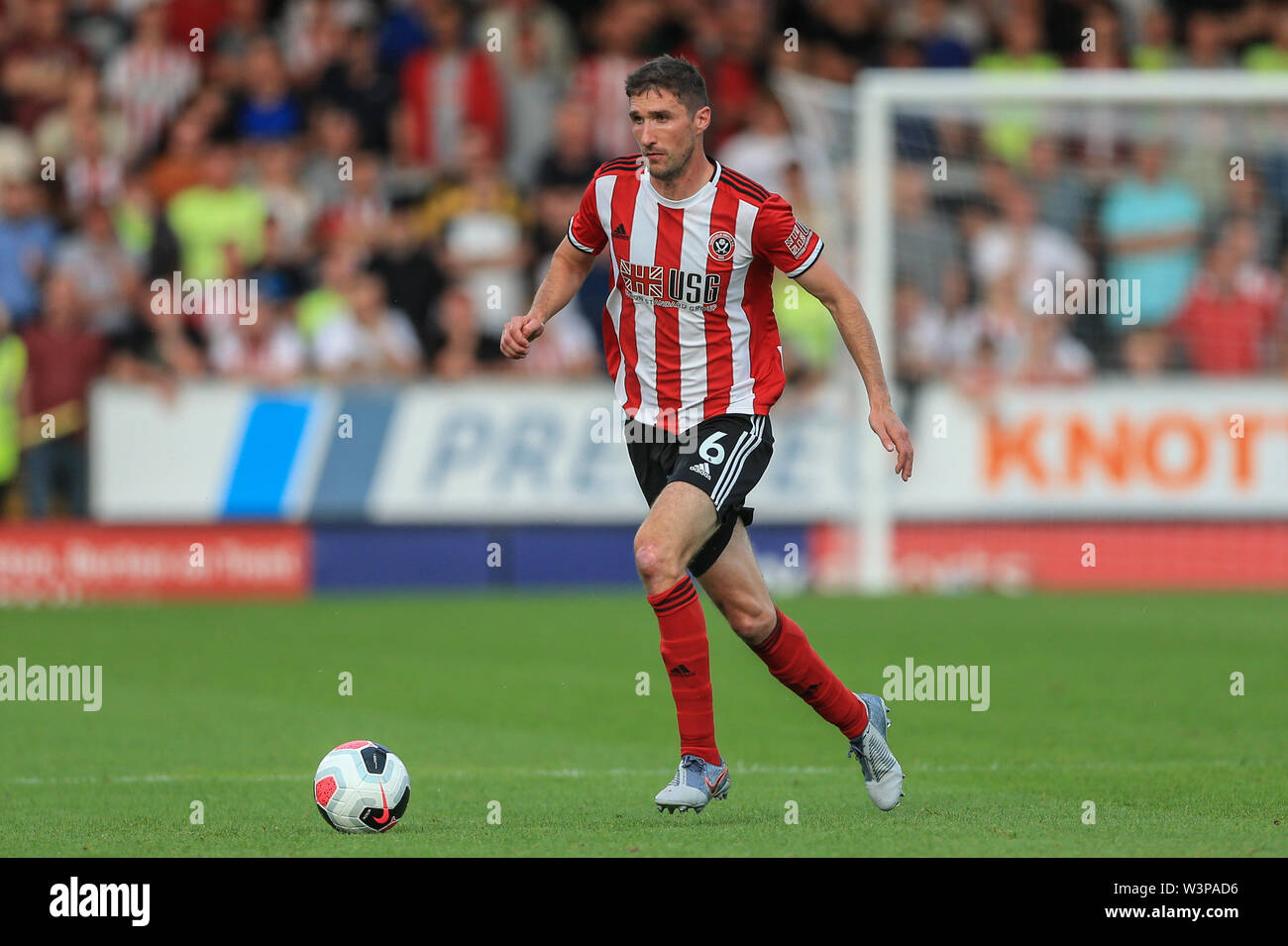 16th July 2019, Pirelli Stadium, Burton upon Trent, England; Pre-Season friendly, Burton Albion vs Sheffield United : Chris Basham of Sheffield United during the game Credit: Mark Cosgrove/News Images  English Football League images are subject to DataCo Licence - Stock Image