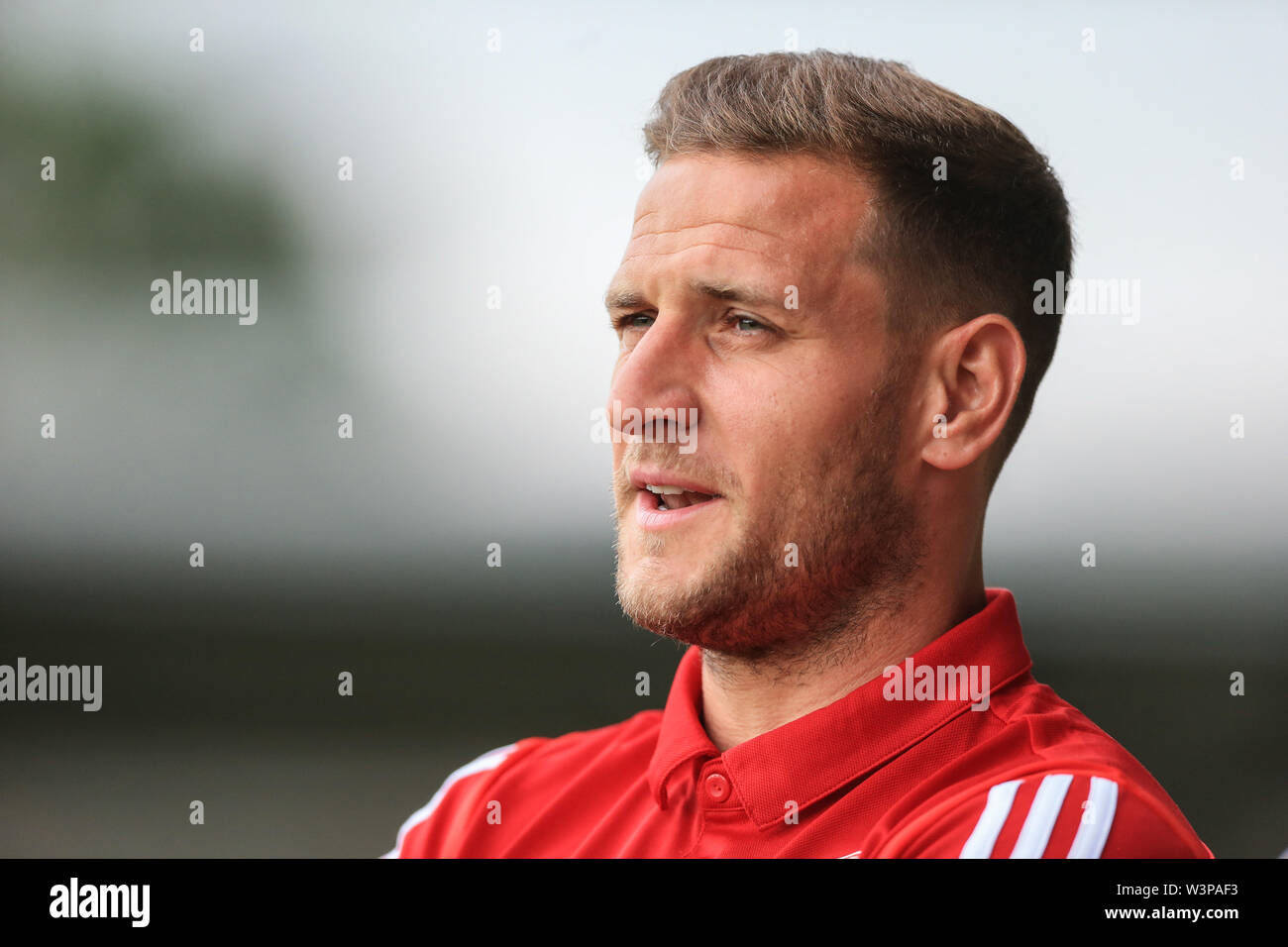 16th July 2019, Pirelli Stadium, Burton upon Trent, England; Pre-Season friendly, Burton Albion vs Sheffield United : Billy Sharp of Sheffield United  Credit: Mark Cosgrove/News Images  English Football League images are subject to DataCo Licence - Stock Image
