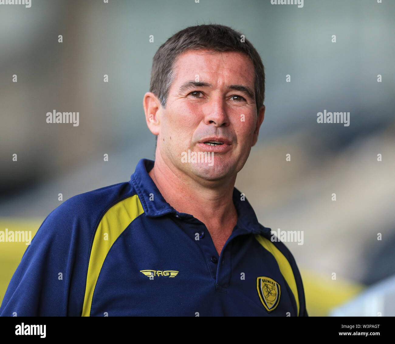 16th July 2019, Pirelli Stadium, Burton upon Trent, England; Pre-Season friendly, Burton Albion vs Sheffield United : Nigel Clough Manager of Burton Albion  Credit: Mark Cosgrove/News Images  English Football League images are subject to DataCo Licence - Stock Image