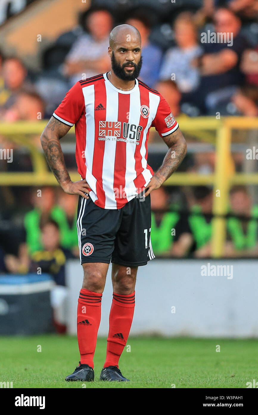 16th July 2019, Pirelli Stadium, Burton upon Trent, England; Pre-Season friendly, Burton Albion vs Sheffield United : David McGoldrick of Sheffield United during the game Credit: Mark Cosgrove/News Images  English Football League images are subject to DataCo Licence - Stock Image