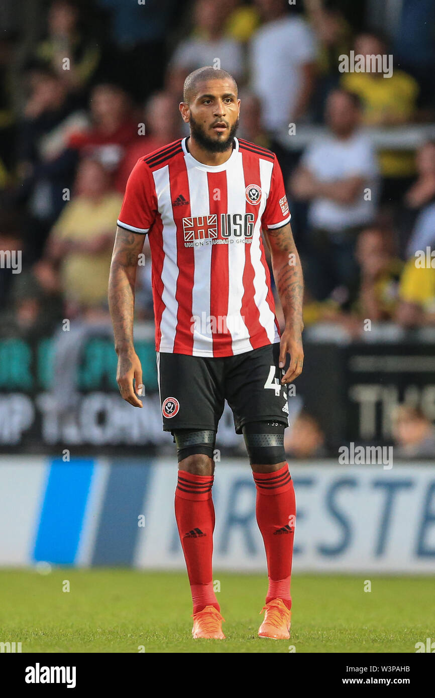 16th July 2019, Pirelli Stadium, Burton upon Trent, England; Pre-Season friendly, Burton Albion vs Sheffield United : Leon Clarke of Sheffield United during the game Credit: Mark Cosgrove/News Images  English Football League images are subject to DataCo Licence - Stock Image