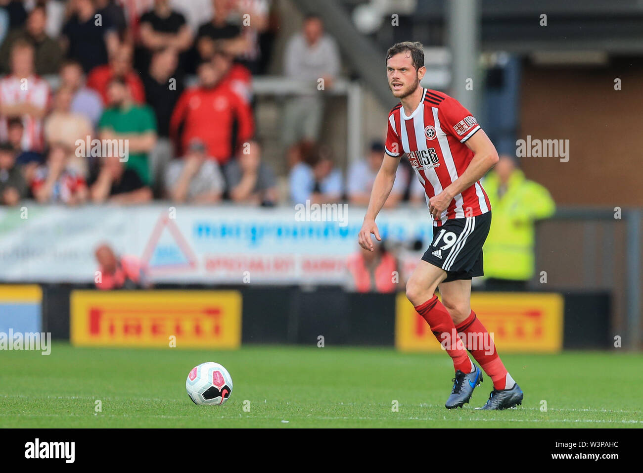 16th July 2019, Pirelli Stadium, Burton upon Trent, England; Pre-Season friendly, Burton Albion vs Sheffield United : Richard Stearman of Sheffield United during the game Credit: Mark Cosgrove/News Images  English Football League images are subject to DataCo Licence - Stock Image