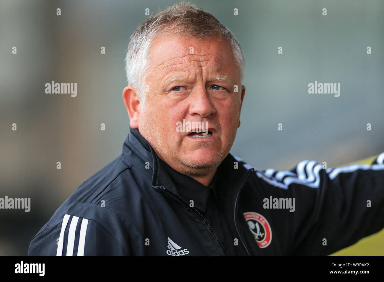 16th July 2019, Pirelli Stadium, Burton upon Trent, England; Pre-Season friendly, Burton Albion vs Sheffield United : Chris Wilder Manager of Sheffield United  Credit: Mark Cosgrove/News Images  English Football League images are subject to DataCo Licence - Stock Image