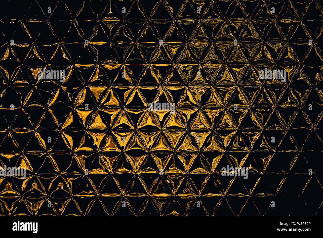Liquid gold imitation design pattern. Real golden color abstract fractal art. Creative background in asian or arabic style. Rich luxury wallpaper. Wal - Stock Image