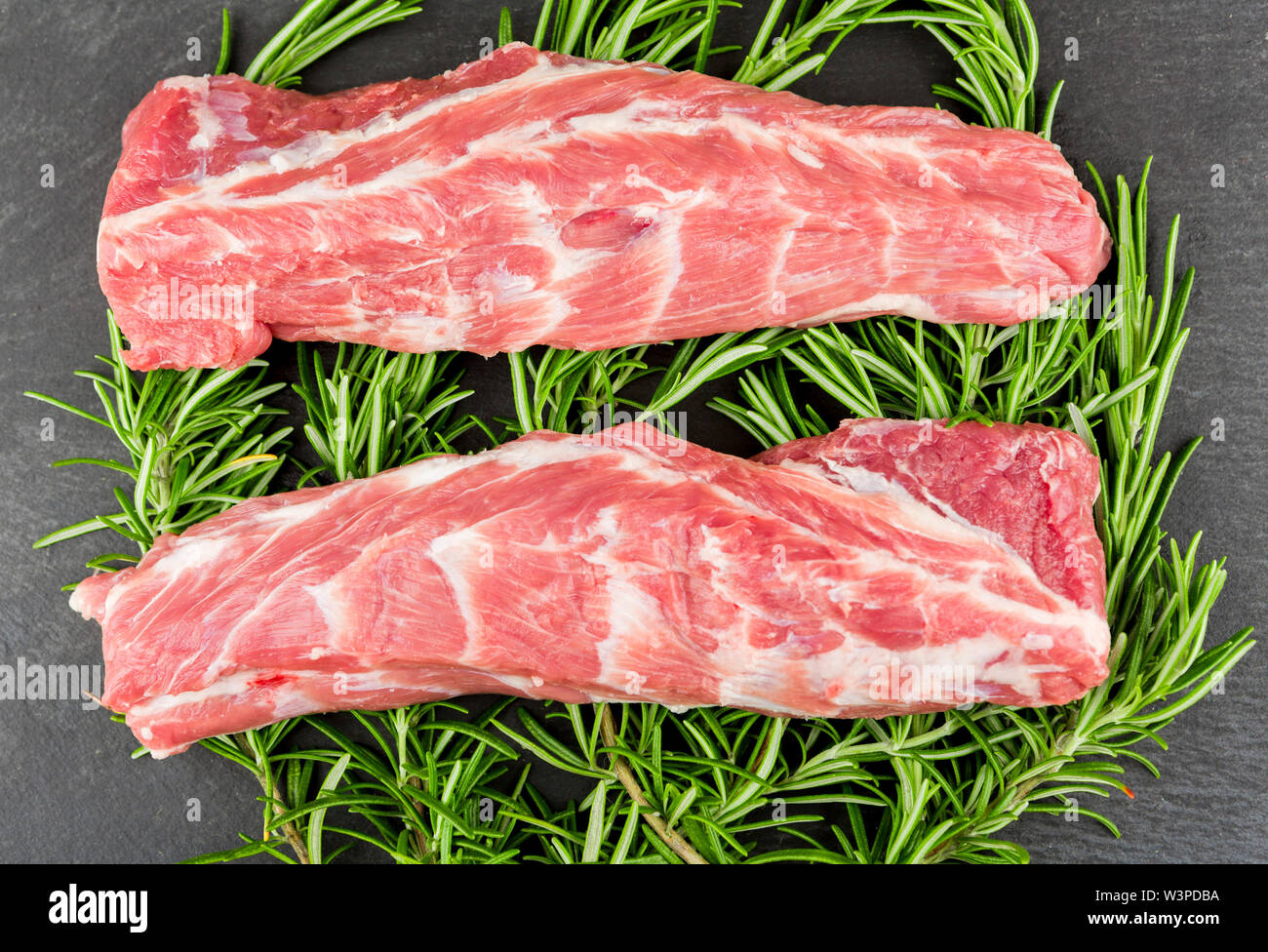 Welsh Neck of Lamb on a bed of Rosemary  ©James Davies Photography - Stock Image