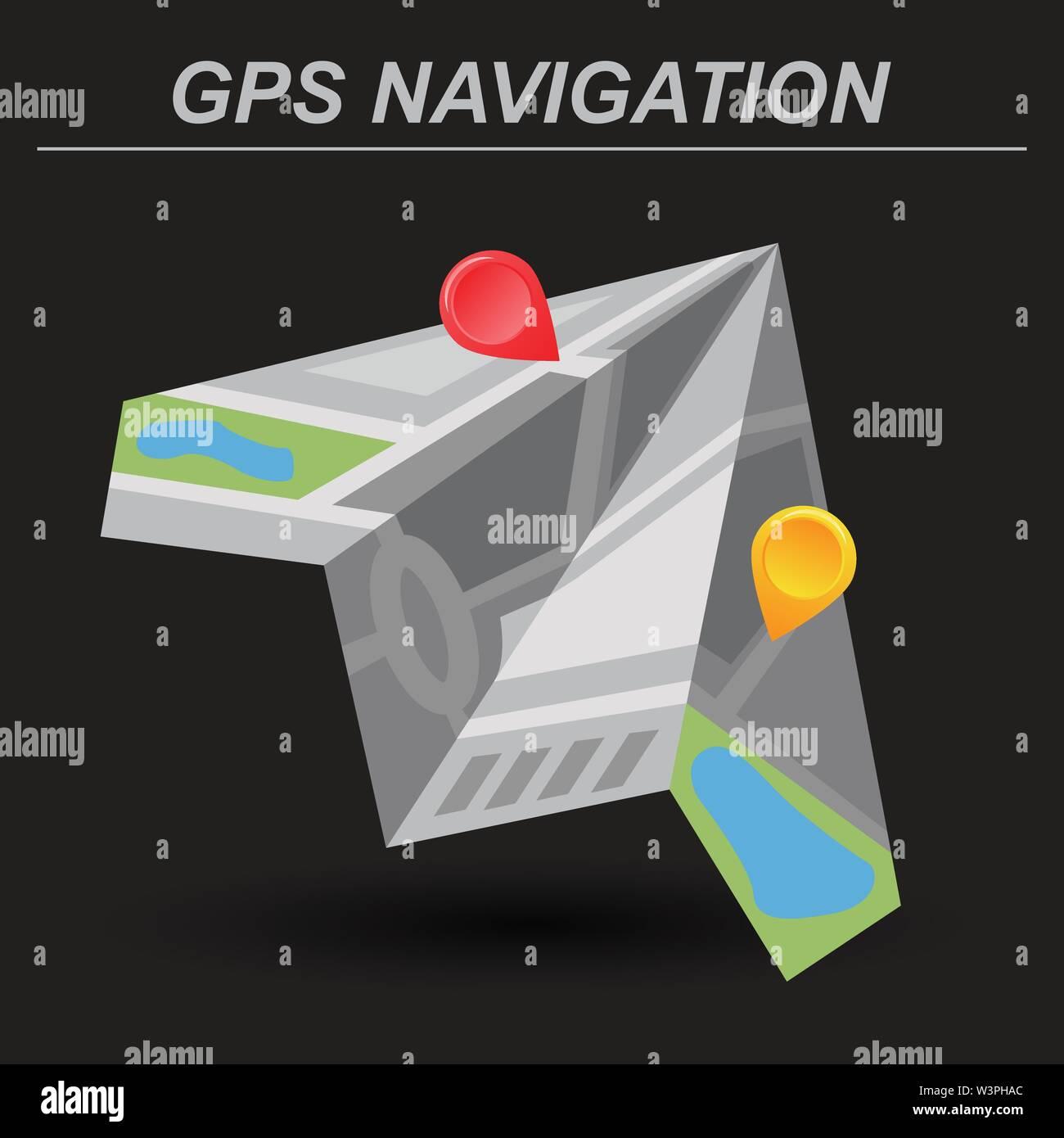 Global Positioning System, navigation. Vector illustration - Stock Vector