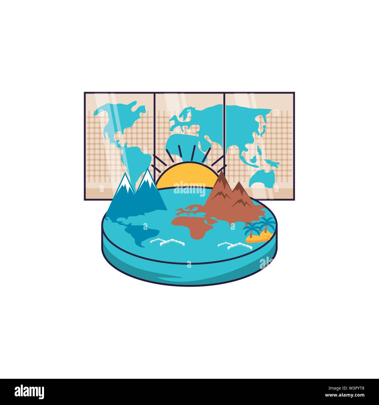 paper map travel guide icon vector illustration design - Stock Vector