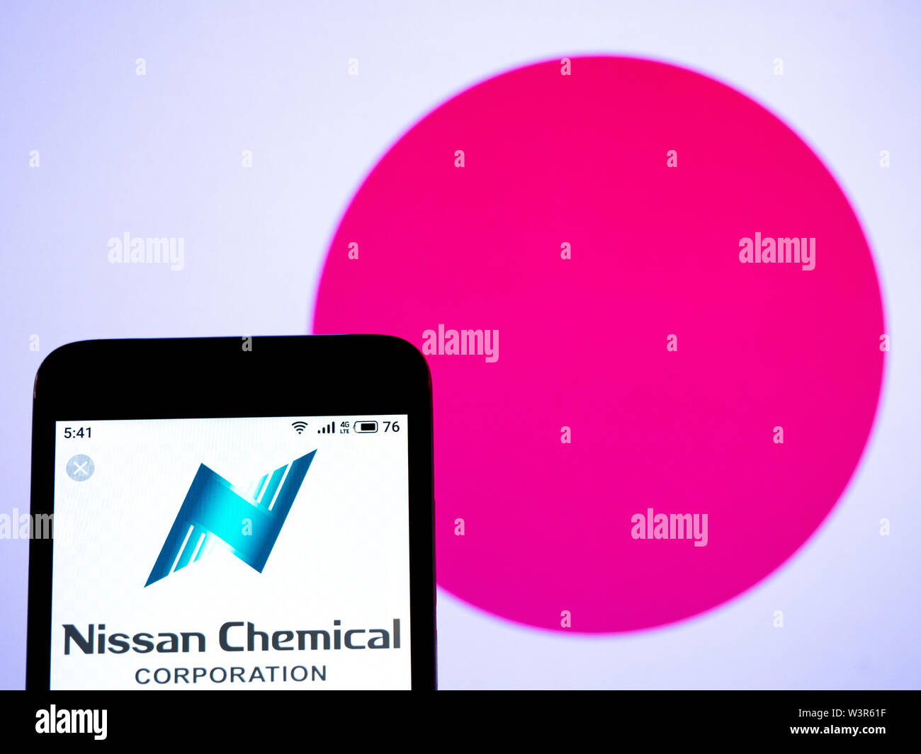 In This Photo Illustration The Nissan Chemical Corporation Logo Is Seen Displayed On A Smartphone Stock Photo Alamy