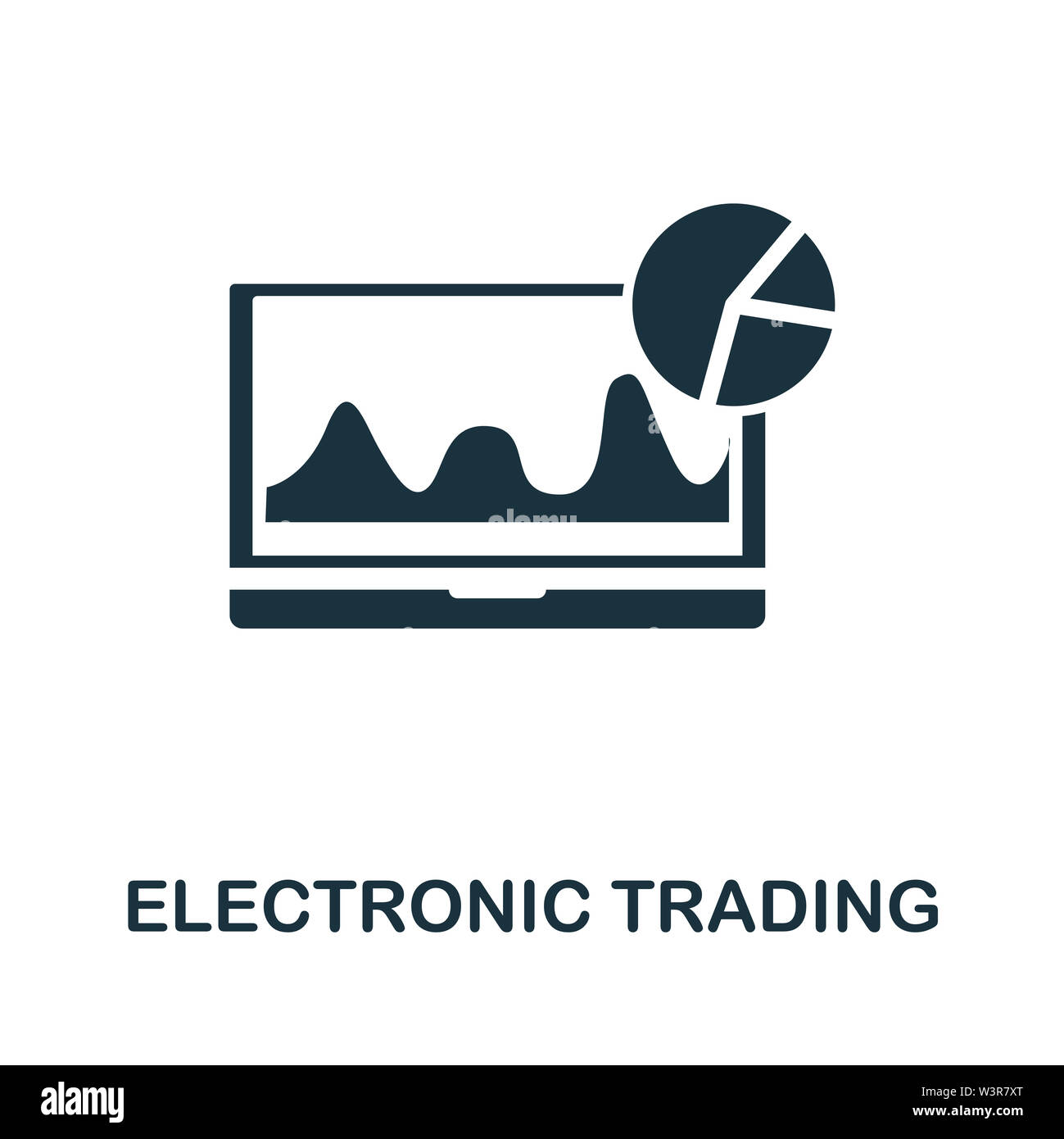 Electronic Trading icon illustration. Creative sign from investment icons collection. Filled flat Electronic Trading icon for computer and mobile. Sym Stock Photo