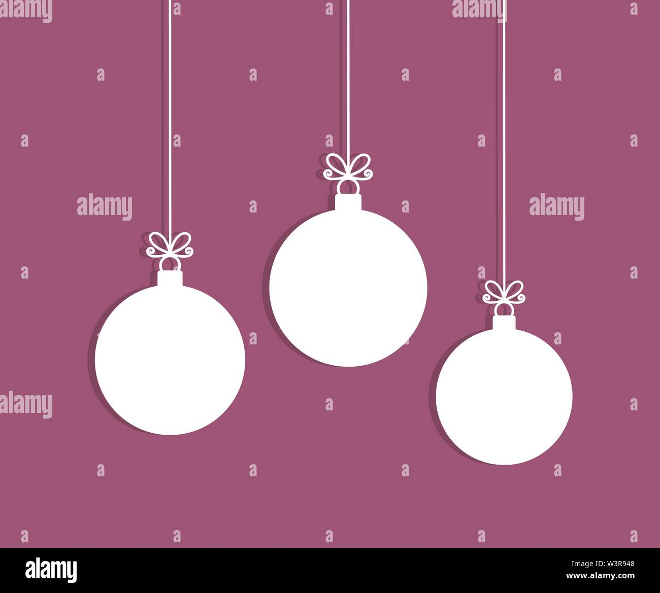 christmas tree balls hanging ornaments vector illustration stock vector image art alamy https www alamy com christmas tree balls hanging ornaments vector illustration image260511560 html