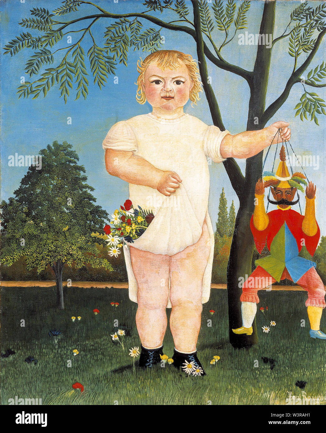 Henri Rousseau, Child with Marionette, Doll, or Puppet, painting, 1903 - Stock Image