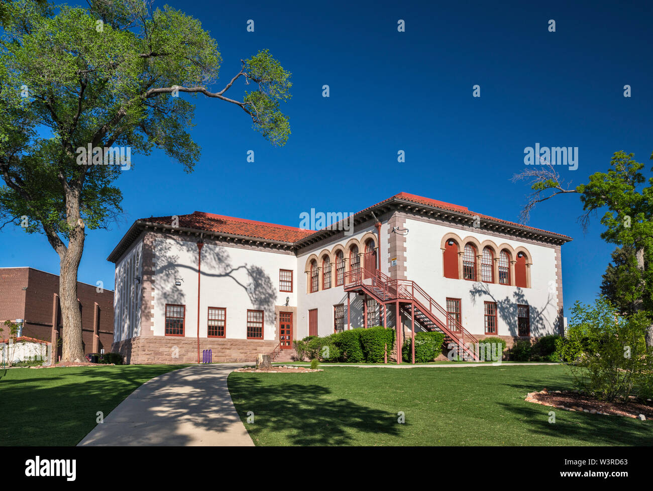Rodgers Hall, Administration Offices of New Mexico Highlands University, Las Vegas, New Mexico, USA Stock Photo