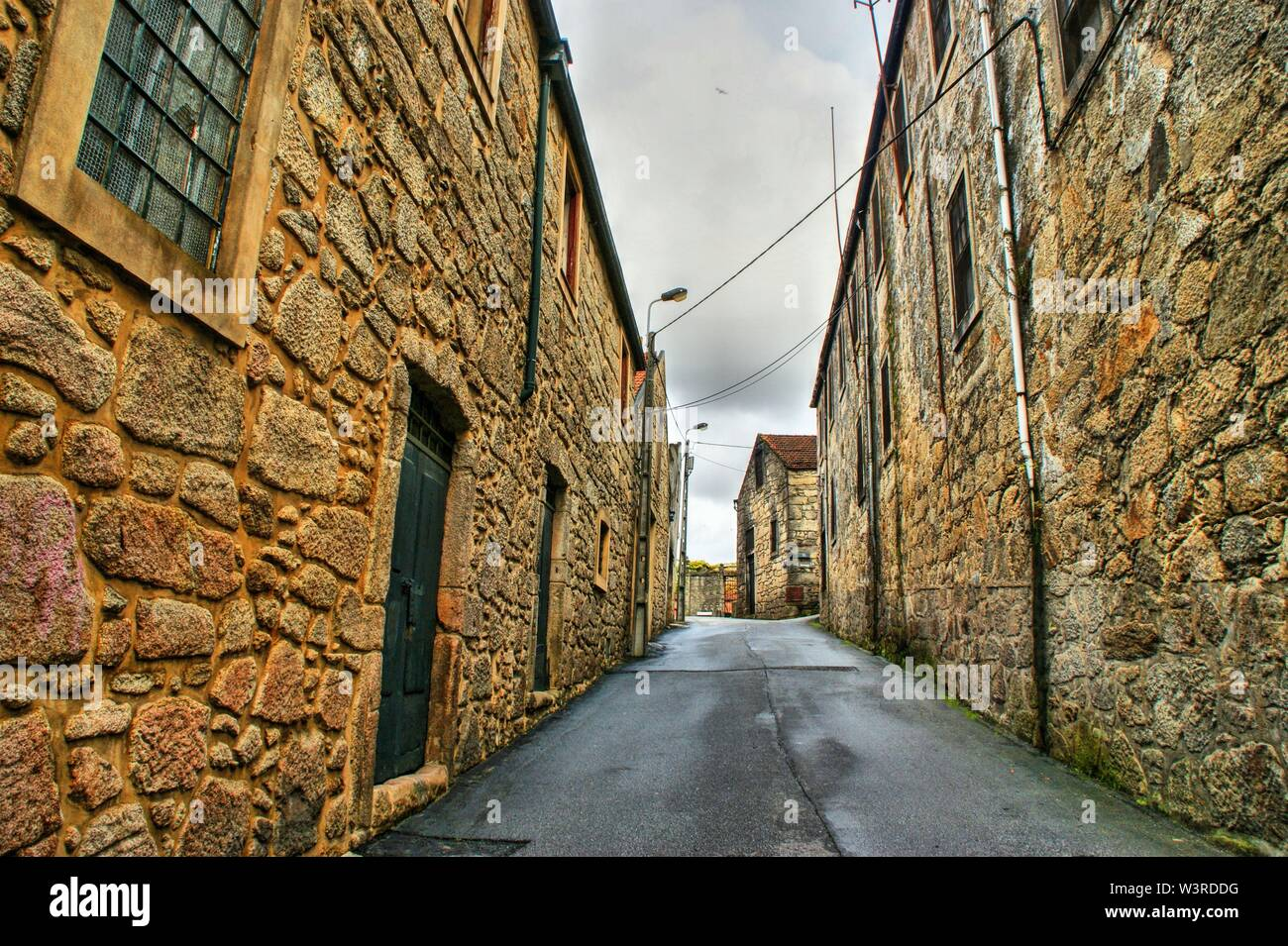 Port Wine Cellars streets in Vila Nova de Gaia, Portugal - Stock Image