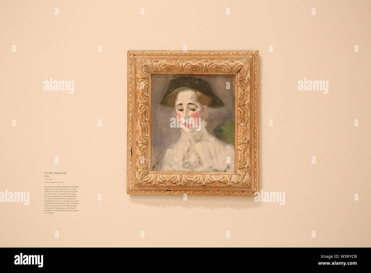 Helene Schjerfbeck 20 July - 27 October 2019 The Gabrielle Jungels - Winkler Galleries Royal Arts Academy , London UK Stock Photo