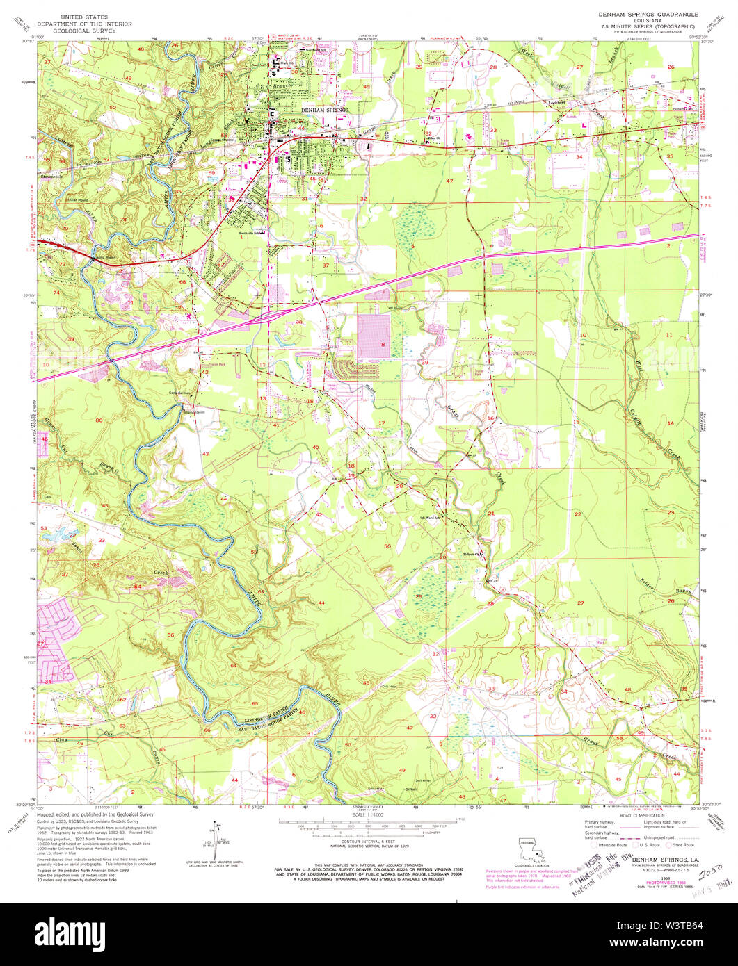 USGS TOPO Map Louisiana LA Denham Springs 331830 1963 24000 ... Denham Springs La Map on head of island la map, slidell la map, scott la map, de ridder la map, st. martinville la map, camp beauregard la map, west feliciana parish la map, franklinton la map, saint francisville la map, saint amant la map, metairie la map, florida la map, algiers la map, lafayette la map, farmerville la map, lake pontchartrain la map, st. francisville la map, tickfaw la map, washington la map, napoleonville la map,