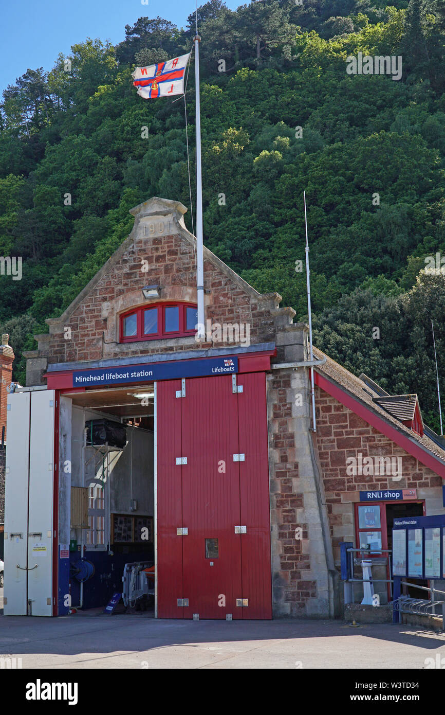 Minehead RNLI Lifeboat Station - Stock Image