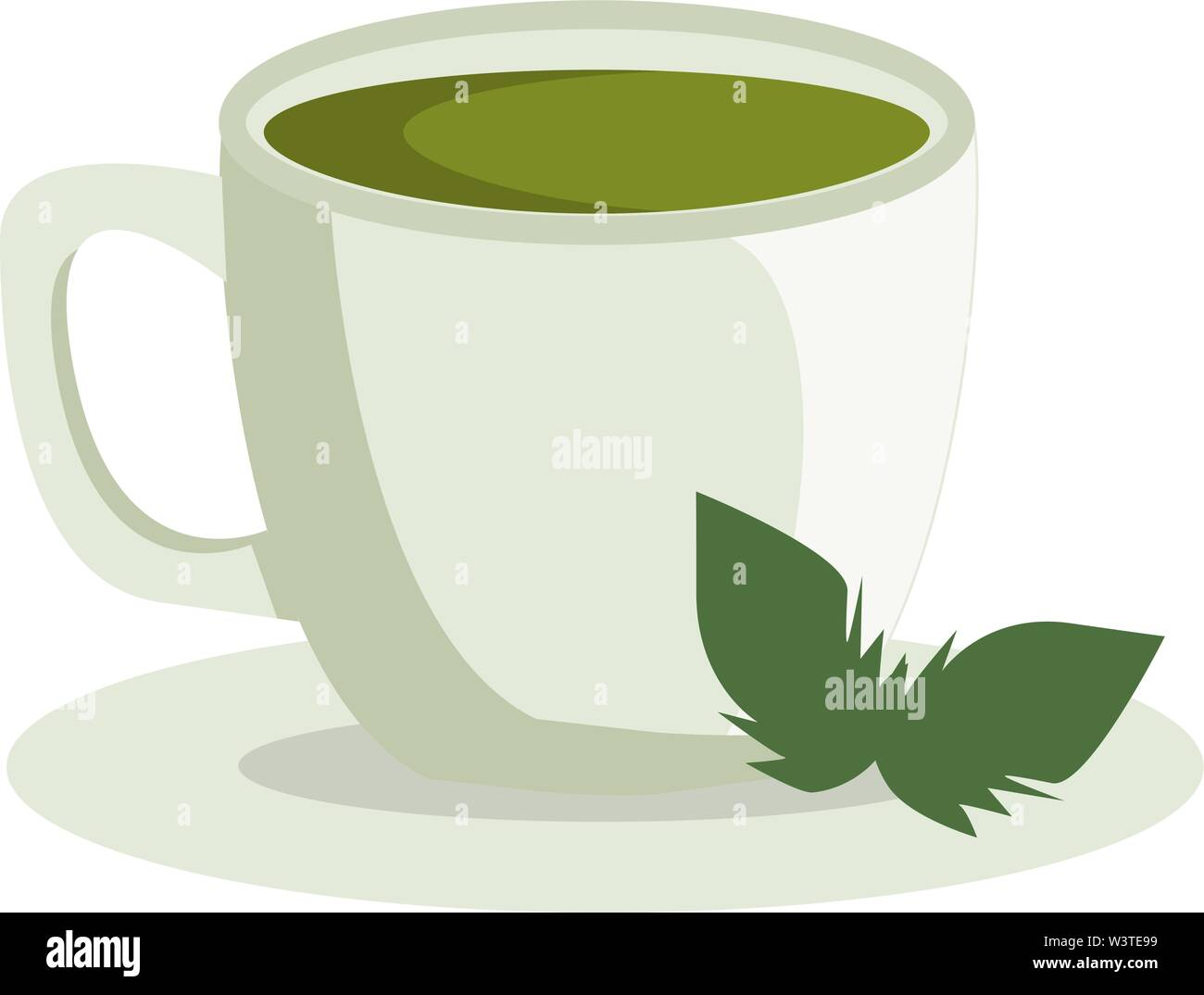 a healthy cup of green tea vector color drawing or illustration stock vector image art alamy https www alamy com a healthy cup of green tea vector color drawing or illustration image260537573 html