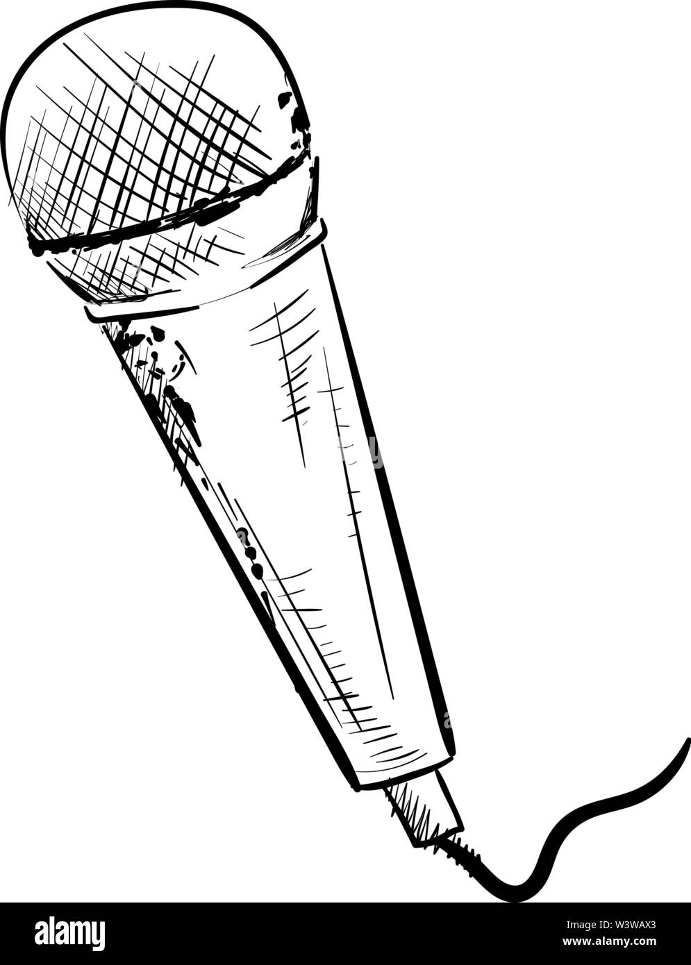 Microphone Drawing Illustration Vector On White Background Stock Vector Image Art Alamy Available for download and commercial use. https www alamy com microphone drawing illustration vector on white background image260556859 html