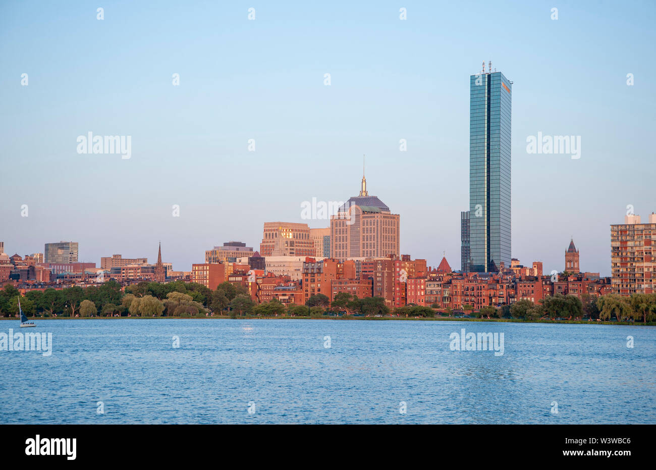 Boston's Back Bay skyline Stock Photo