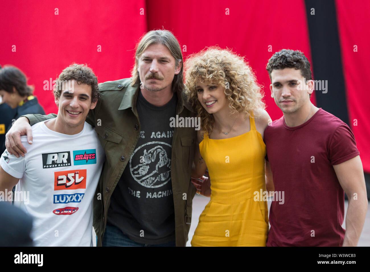 Milano, Italy  17th July, 2019  Miguel Herran, Luka Peros, Esther
