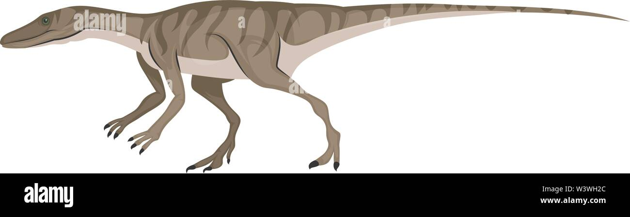 Small dinosour, illustration, vector on white background. - Stock Image