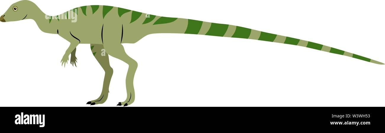 Leaellynasaura, illustration, vector on white background. - Stock Image