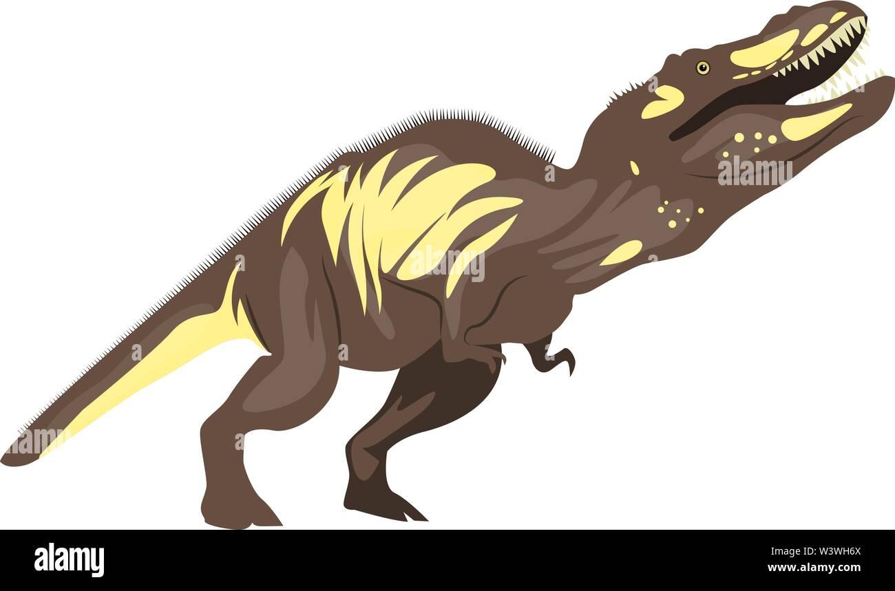 Tyrannosaurus, illustration, vector on white background. - Stock Image