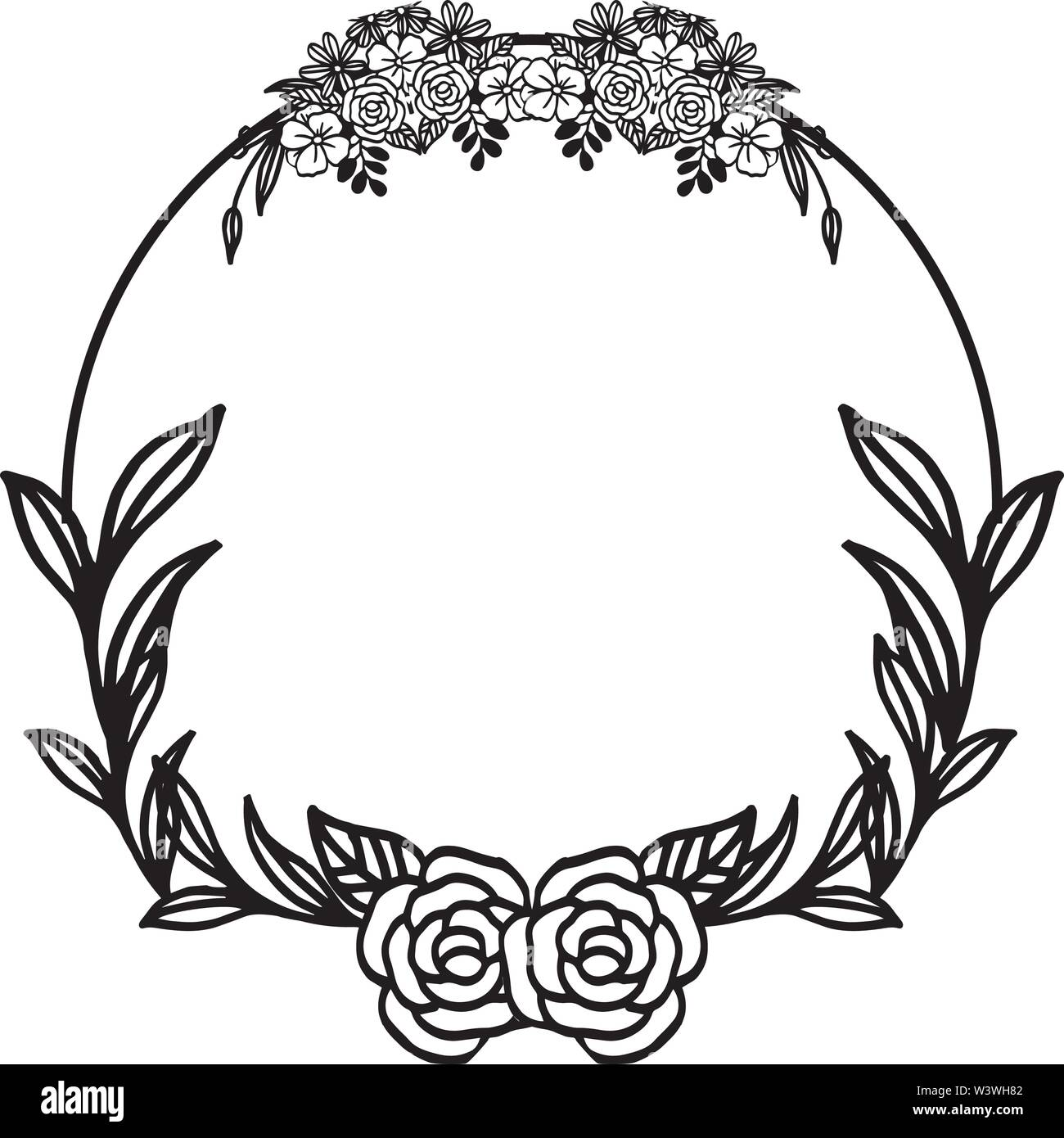 Beautiful Shapes Of Frames Floral And Leaf Wedding
