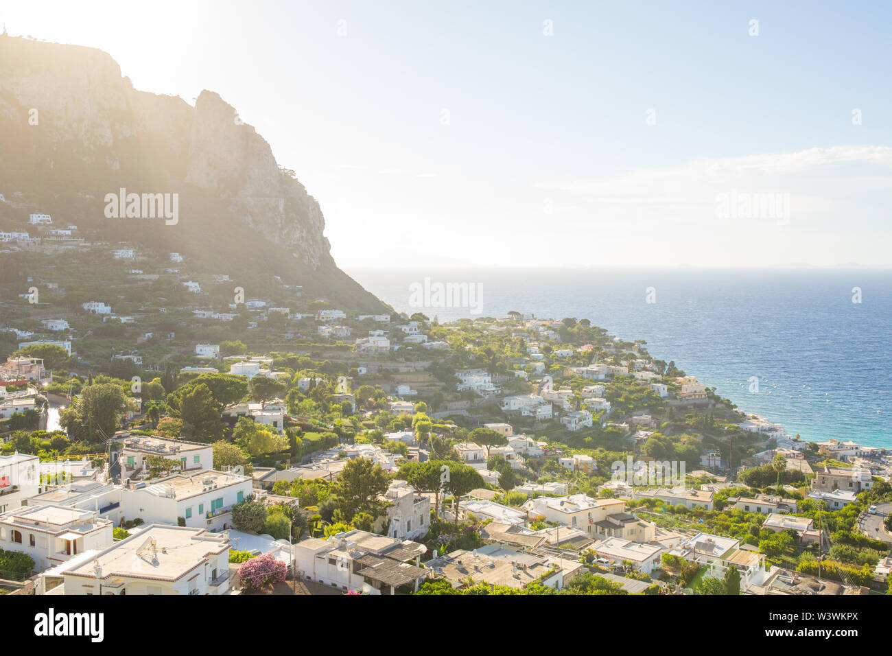 Landscape of Capri Stock Photo