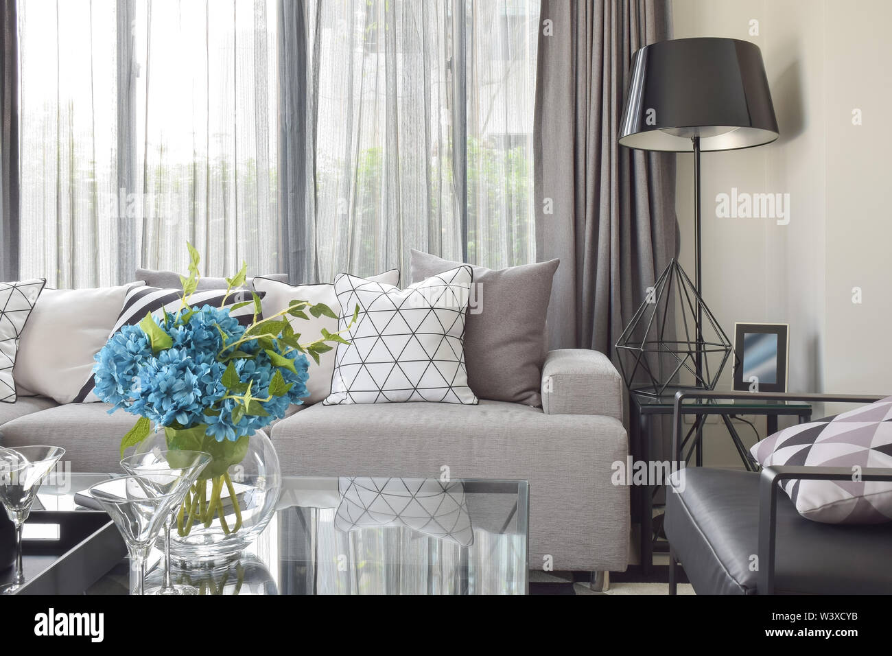 Awesome Varies Pattern Pillows In Monotone Setting On Light Gray Machost Co Dining Chair Design Ideas Machostcouk
