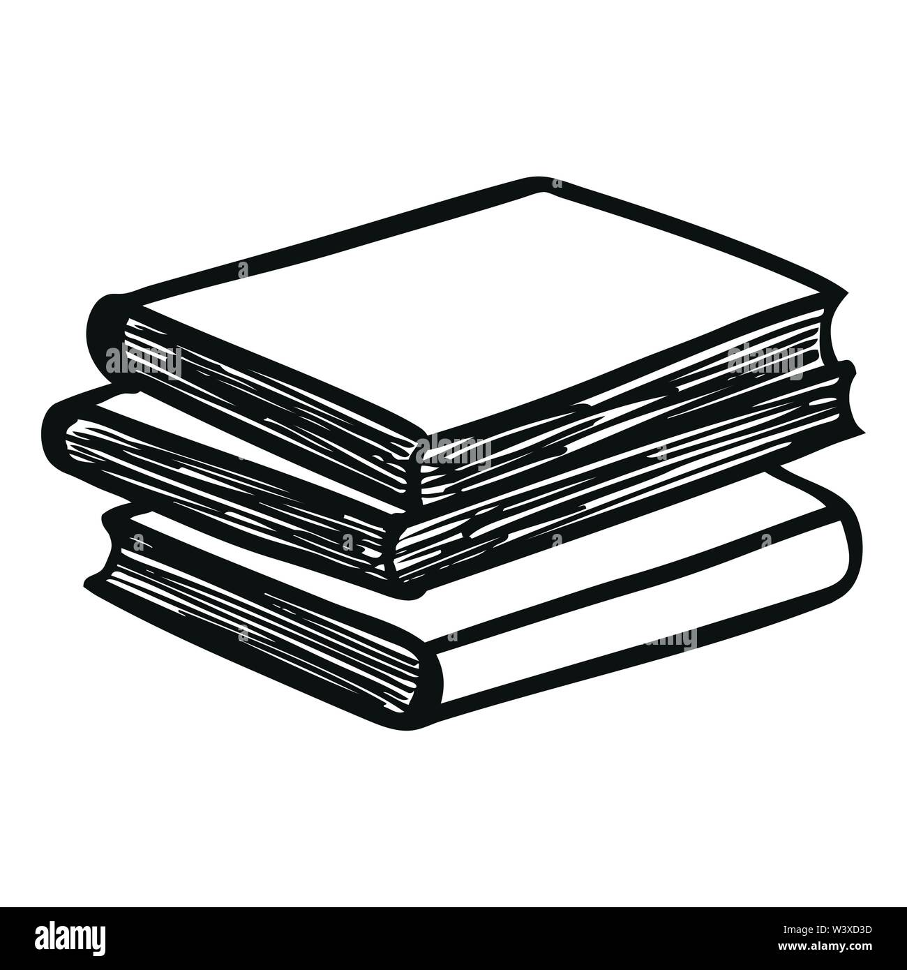 Stack of Books. Vector illustration Stock Vector