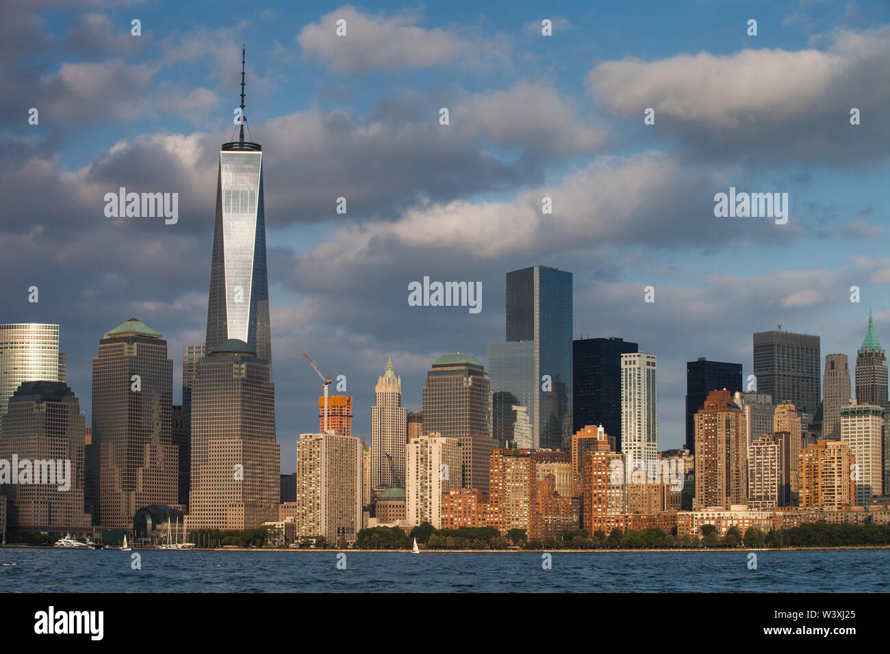 A view of Lower Manhattan from Liberty State Park - Stock Image
