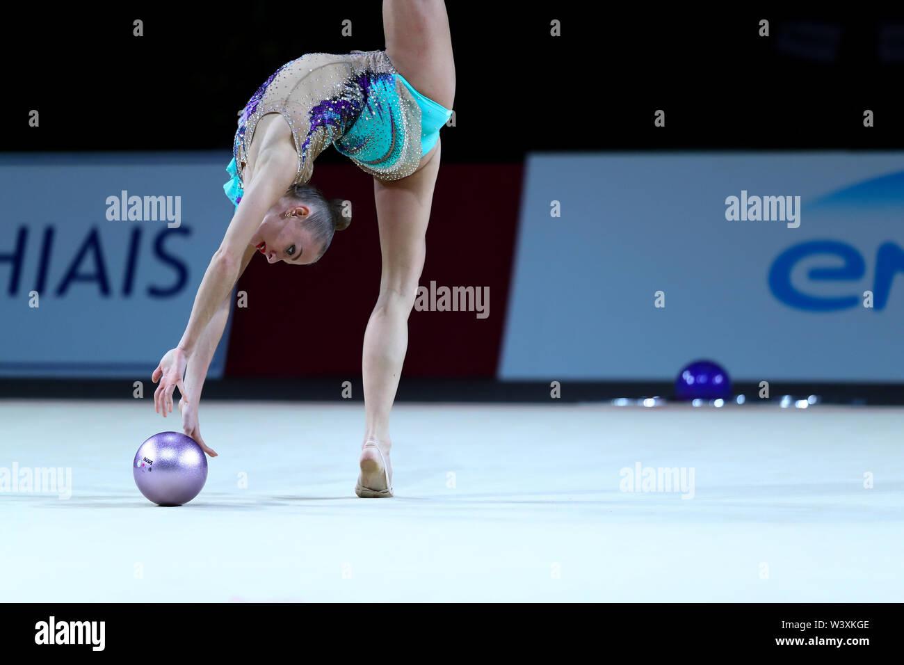 Ball Routine Gymnast Stock Photos & Ball Routine Gymnast