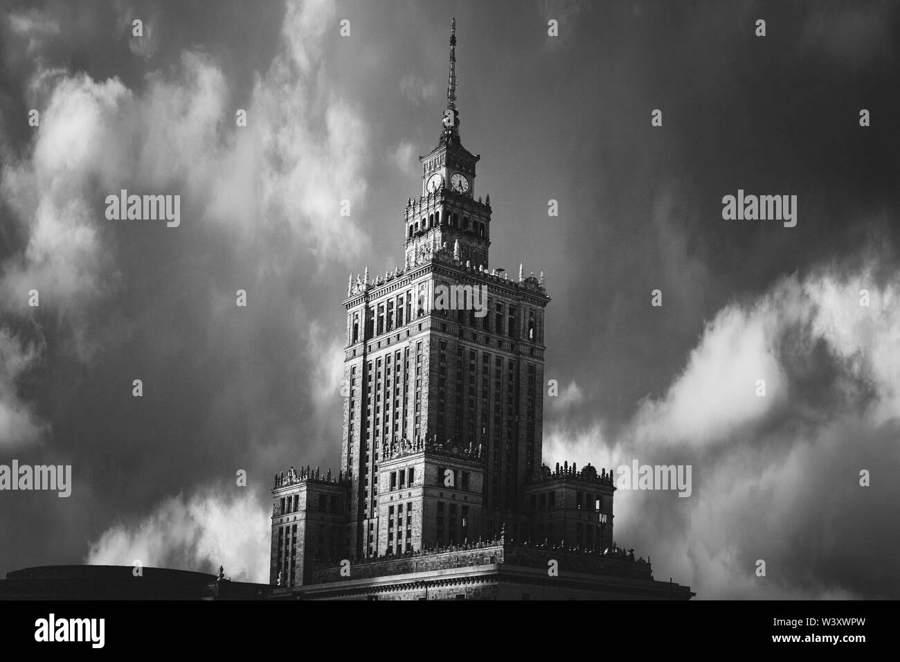 Palace of Culture and Science, Warsaw. Stock Photo