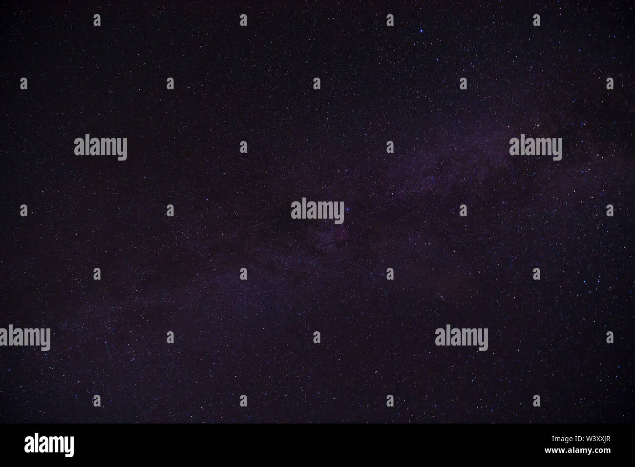 Clearly milky way on night sky - Stock Image