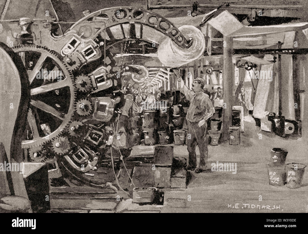 Calico Printers' Association Ltd, cotton industry, Manchester, England, UK, 19th century - Stock Image