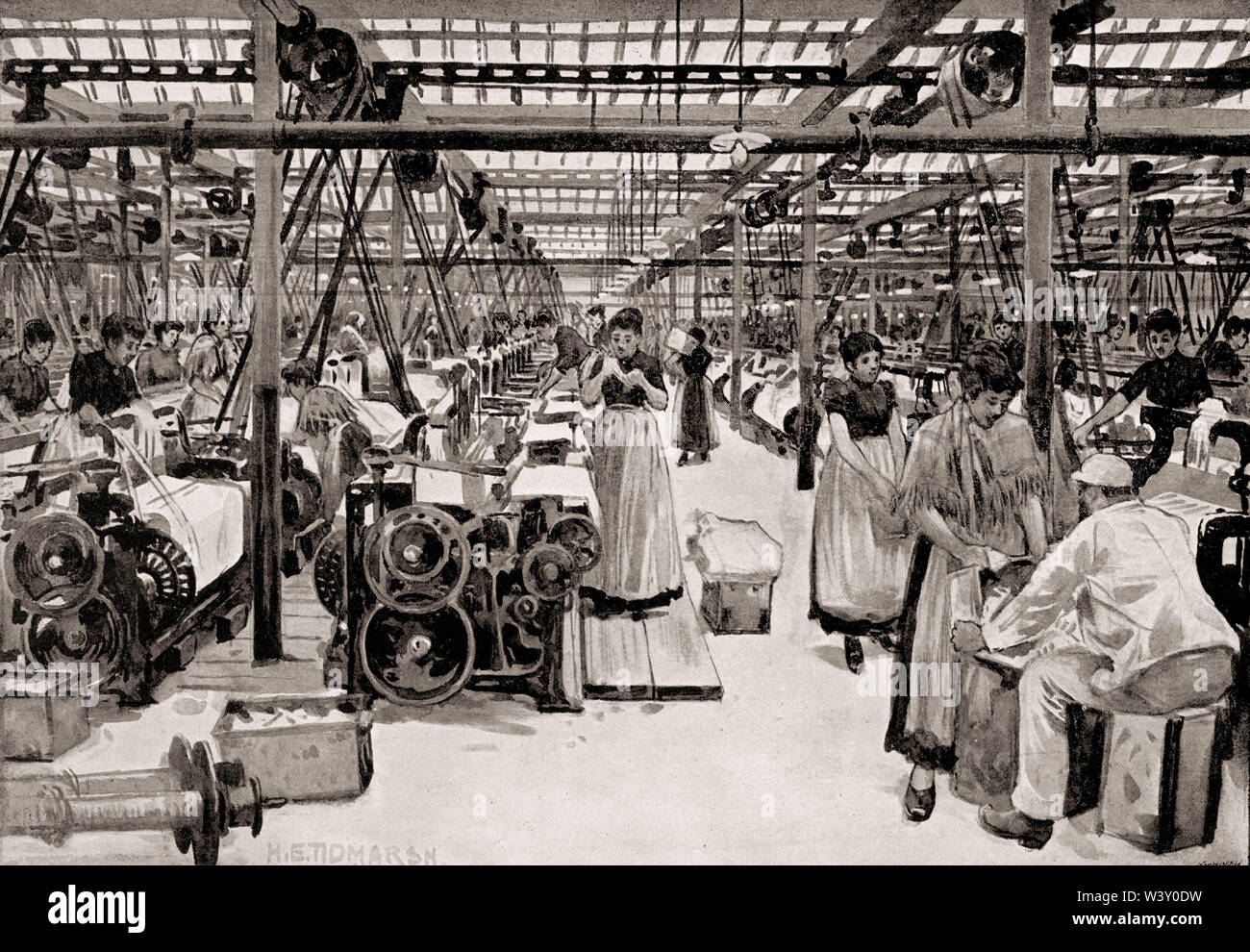 Richard Haworth and Co., cotton industry, Manchester, England, UK, 19th century - Stock Image