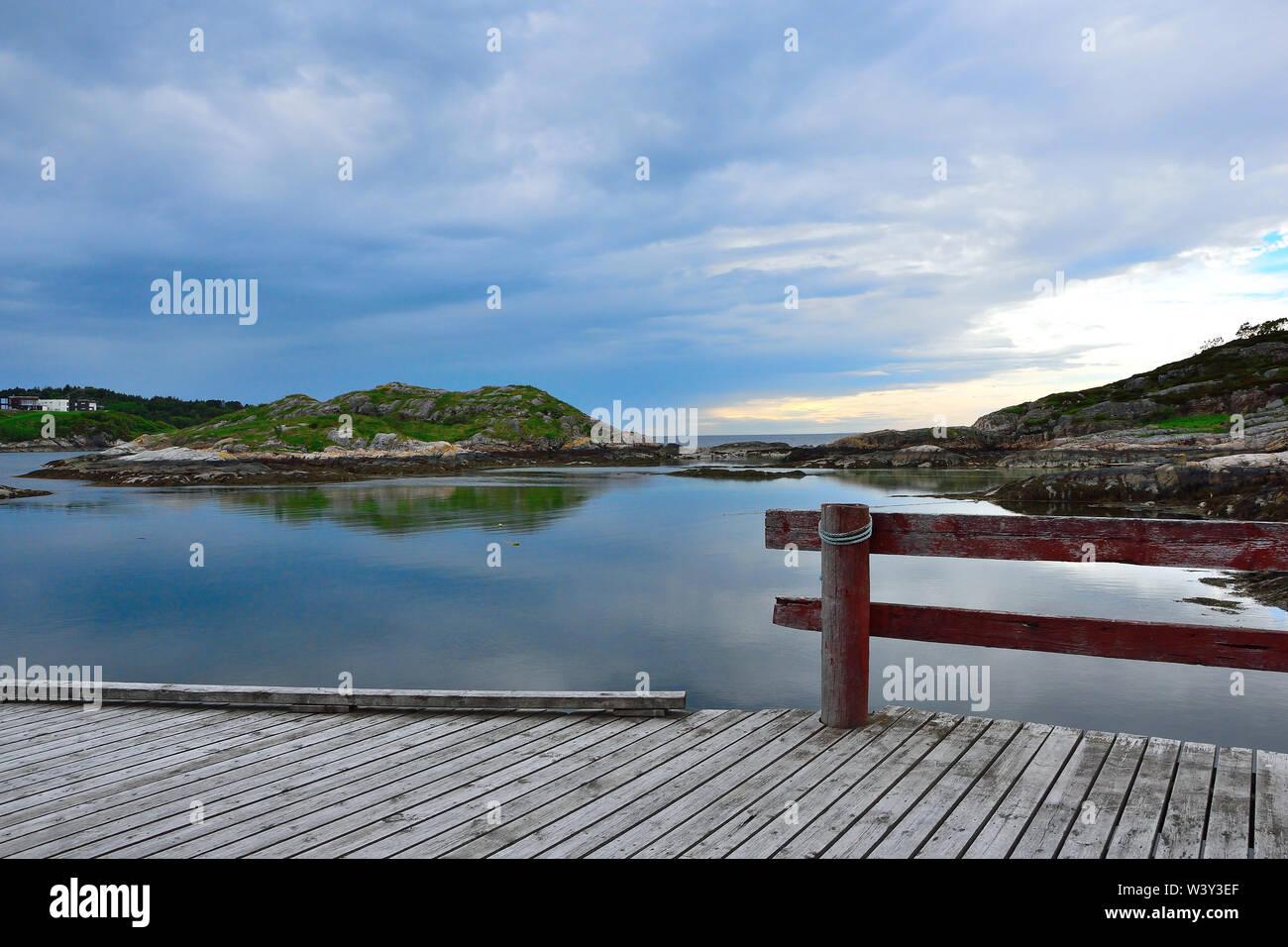 View to the Sea Kristiansund, Dalabergan, Norway Stock Photo