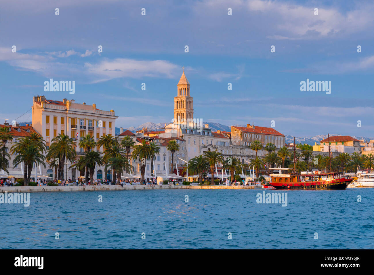 Split Harbour, Split, Dalmatian Coast, Croatia, Europe - Stock Image