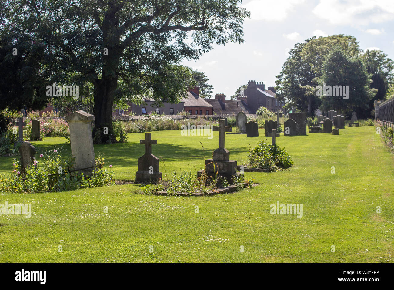 The military graveyard at  the Royal Hospital Kilmainham, Dublin, Ireland, one of three graveyards in this complex, this one reserved for officers. - Stock Image