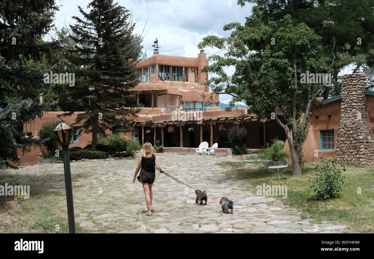Mabel Dodge Luhan House in Taos, New Mexico - Stock Image