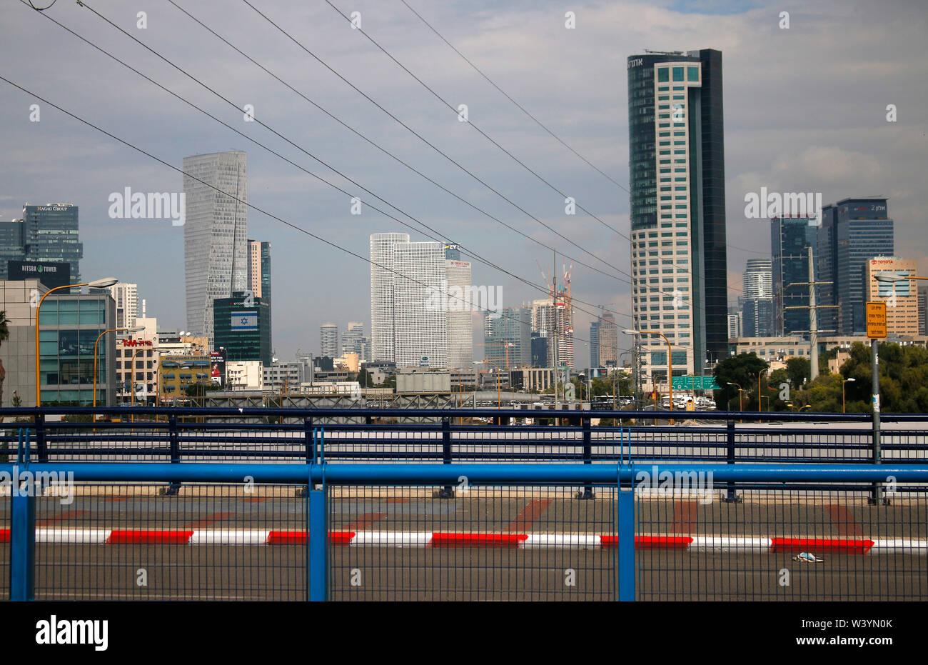 Skyline von Tel Aviv, Israel/ skyline of Tel Aviv, Israel (nur fuer redaktionelle Verwendung. Keine Werbung. Referenzdatenbank: http://www.360-berlin. Stock Photo