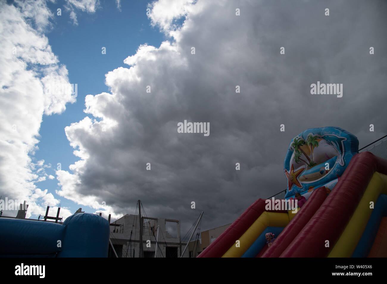 Clouds in Gdansk, Poland. July 7th 2019 © Wojciech Strozyk / Alamy Stock Photo - Stock Image