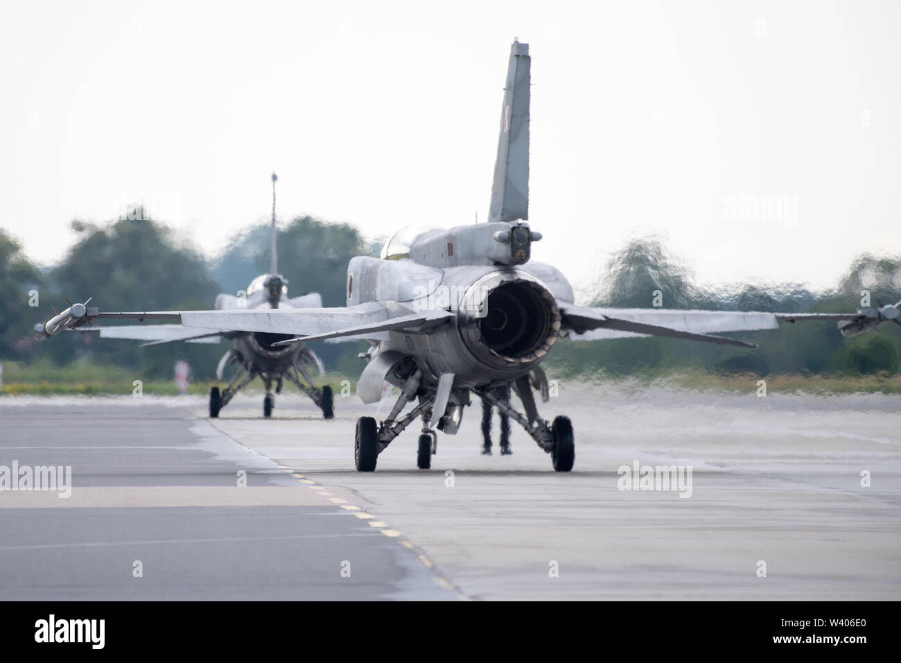 Supersonic multirole fighter aircraft General Dynamics F-16 Fighting Falcon in Gdynia, Poland. July 13th 2019 © Wojciech Strozyk / Alamy Stock Photo - Stock Image